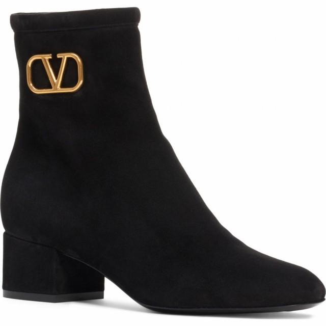 最新情報 ヴァレンティノ VALENTINO GARAVANI レディース ブーツ シューズ・靴 V-Logo Bootie Black, やまなしけん d816a0e1
