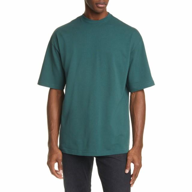 春夏新作 バレンシアガ BALENCIAGA メンズ Tシャツ トップス Logo Crewneck T-Shirt Cypress Green, 天然石 Stone Angel 93da84ab