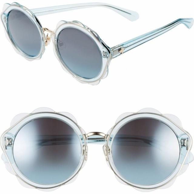 100%品質 ケイト スペード KATE SPADE NEW YORK レディース メガネ・サングラス ラウンド karries 52mm round sunglasses Blue, 備前焼のお店DAIKURA bae8cdce