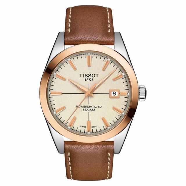 安価 Leather 40mm レディース 腕時計 TISSOT Watch. Gentleman Powermatic Rose ティソ 80 Strap Gold/Brown-腕時計レディース