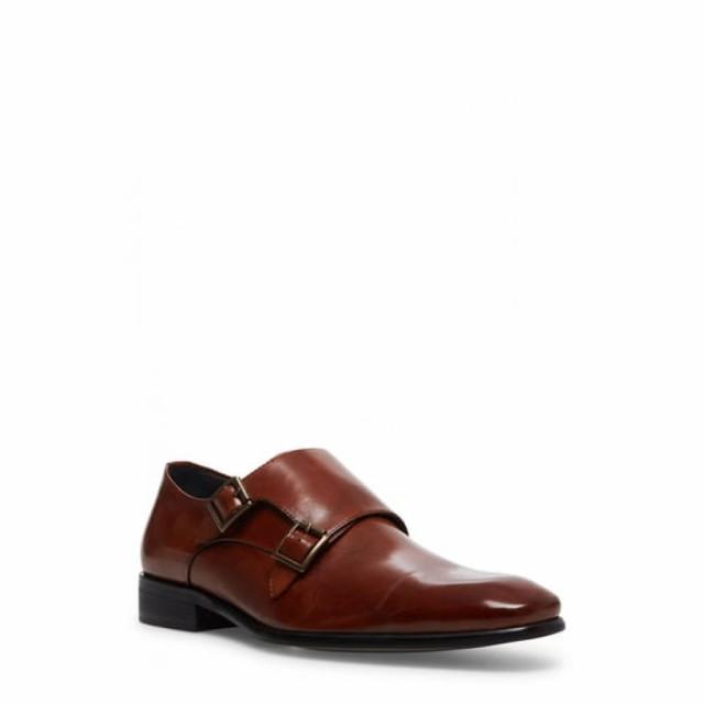 おすすめ スティーブ マデン Strap STEVE Cognac MADDEN メンズ Monk 革靴・ビジネスシューズ シューズ・靴 Beaumont Double Monk Strap Shoe Cognac Leather, 空調店舗厨房センター:68715c44 --- chevron9.de