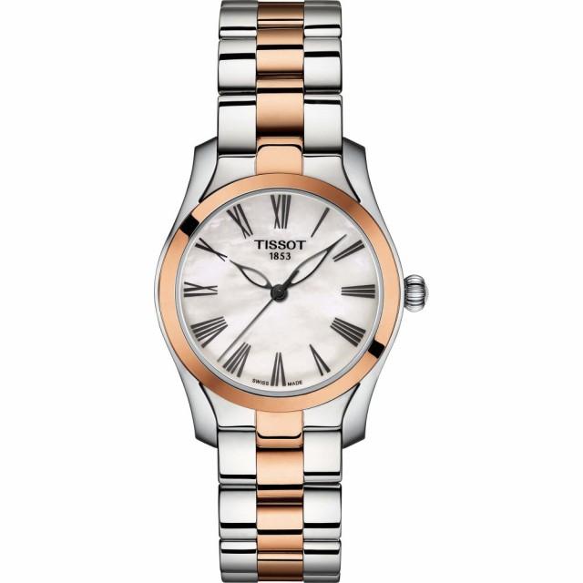 【オープニング大セール】 腕時計 Bracelet Rose Pearl ティソ 30mm Gold/Mother TISSOT Of Watch. T-Wave レディース-腕時計レディース