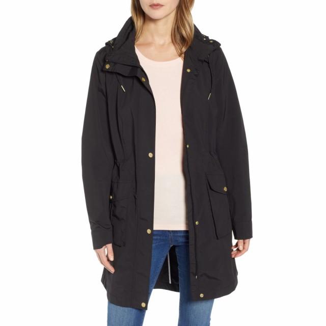 おすすめネット コールハーン COLE HAAN SIGNATURE レディース レインコート アウター Packable Rain Jacket with Removable Hood Black, シモキタグン e4e1e778