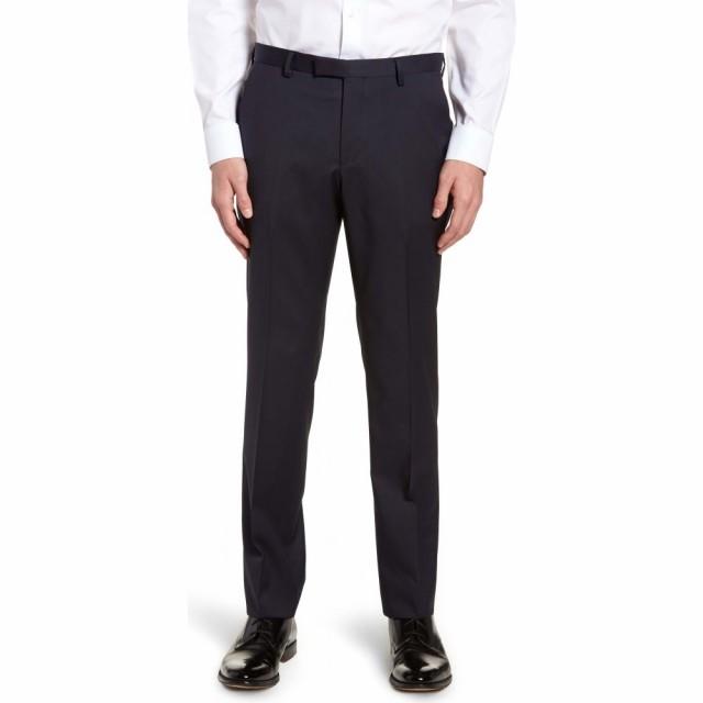 【即納!最大半額!】 ヒューゴ ボス BOSS メンズ スラックス ボトムス・パンツ Front Lenon BOSS CYL ボス Flat Front Straight Leg Solid Wool Dress Pants Dark Blue, MDD:4d90f695 --- united.m-e-t-gmbh.de