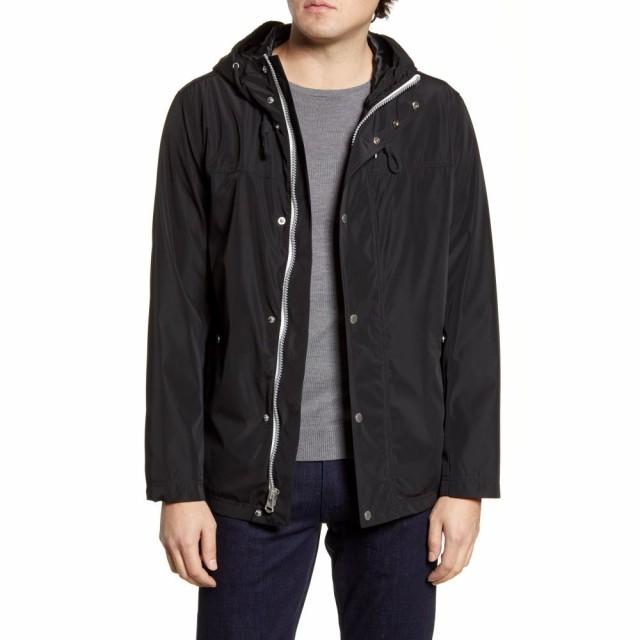 2019人気No.1の コールハーン COLE HAAN メンズ レインコート アウター Hooded Raincoat Black, さくら茶舗 b267a67a