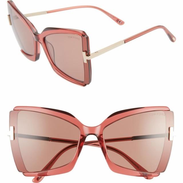 人気アイテム トム フォード TOM 63mm FORD レディース メガネ・サングラス Gia FORD Gia 63mm Oversize Butterfly Sunglasses Shiny Pink/Light Rose, 松華堂通販SHOP:8deb40f8 --- zafh-spantec.de