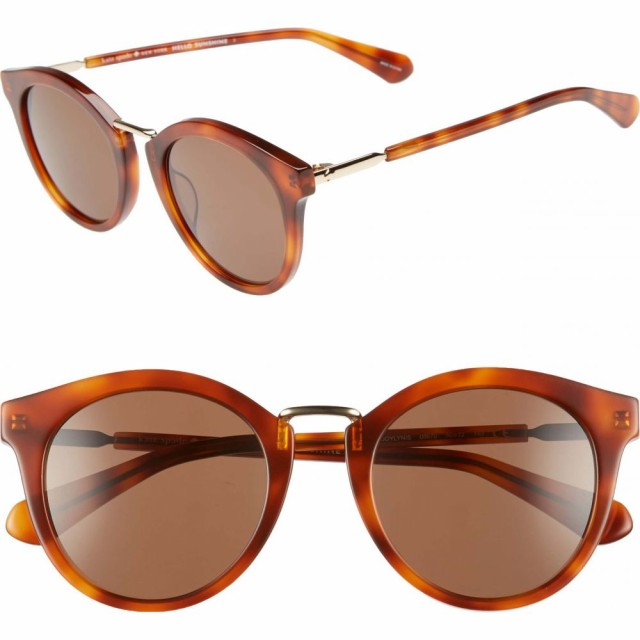 【おまけ付】 ケイト sunglasses スペード KATE 50mm SPADE NEW YORK レディース レディース メガネ・サングラス joylyn 50mm round sunglasses Dark Havana, ペット健康便:6f8a2774 --- zafh-spantec.de