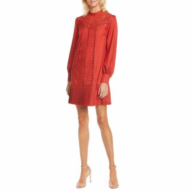 【売り切り御免!】 テッドベーカー TED BAKER LONDON Dress レディース BAKER ワンピース ワンピース Long・ドレス Lace Inset Long Sleeve Dress Dk/Orange, シューマートワールド:2fbc4ff6 --- kzdic.de