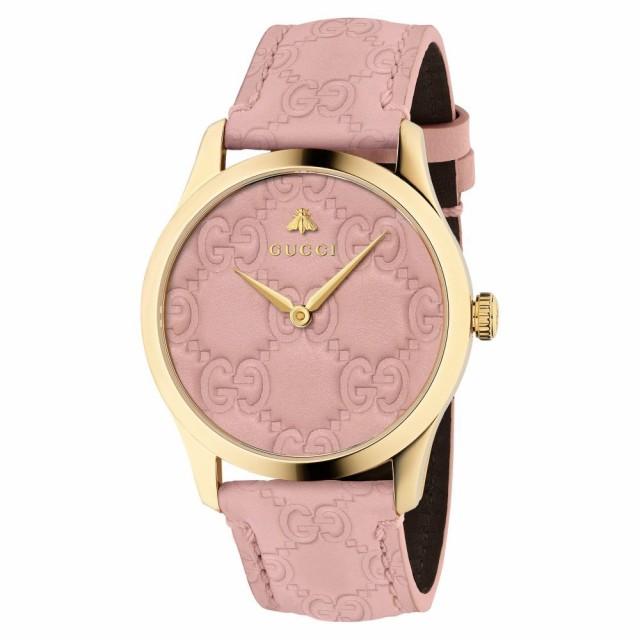 手数料安い グッチ Strap 腕時計 GUCCI G-Timeless Leather Pink/Gold Watch. レディース Logo 38mm-腕時計レディース