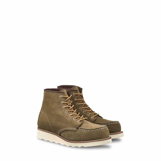 2019人気新作 レッドウィング 6-inch RED boot WING Mohave レディース ブーツ シューズ・靴 6-inch moc boot Olive Mohave Leather, DEMODE SPORTS:28b9f1c5 --- united.m-e-t-gmbh.de