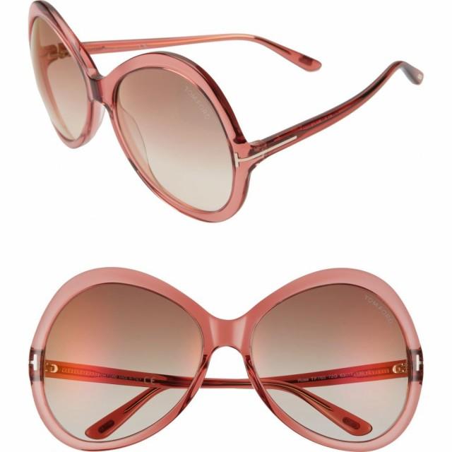 満点の トム フォード TOM Pink/Brown FORD レディース メガネ Rose・サングラス ラウンド Rose FORD 63mm Gradient Oversize Round Sunglasses Shiny Pink/Brown Mirr, ハエバルチョウ:d2c206fb --- eu-az124.de