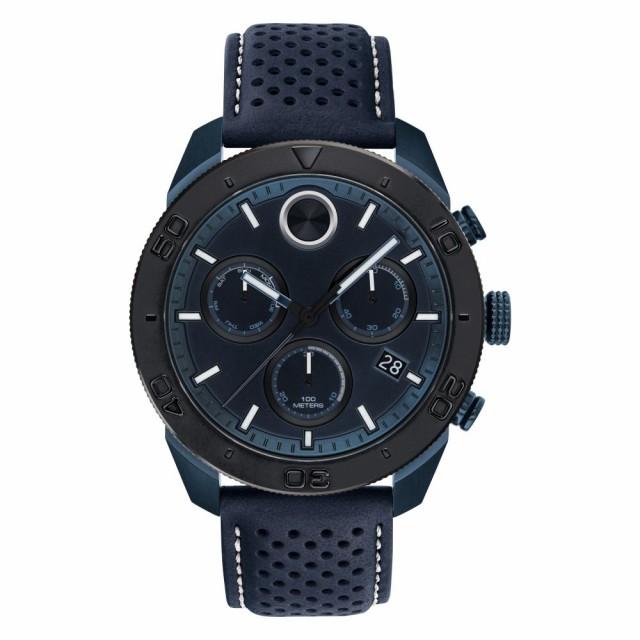最新デザインの モバード MOVADO メンズ 腕時計 クロノグラフ Bold Sport Chronograph Leather Strap Watch. 44mm Navy Blue/Black, びっくり!House 2b525bfd