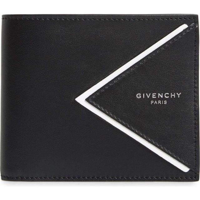 最新デザインの ジバンシー GIVENCHY メンズ 財布 V-Shape 財布 Leather GIVENCHY Wallet ジバンシー Black/White, dish(ディッシュ):049bd55c --- zafh-spantec.de