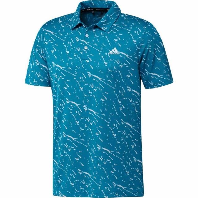 アディダス ADIDAS GOLF メンズ ゴルフ ポロシャツ トップス adidas Primeblue Golf Polo Sonic Aqua