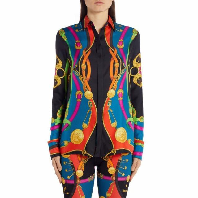 【ネット限定】 ヴェルサーチ Silk VERSACE レディース Rodeo ブラウス・シャツ トップス Barocco Rodeo Barocco Print Silk Shirt Multi, 三輪町:ca0bfac4 --- keles-montagen.de