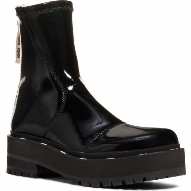 【大特価!!】 フェンディ フェンディ FENDI レディース ブーツ コンバットブーツ コンバットブーツ レディース シューズ・靴 Zip Patent Combat Boot Black, オリジナルショップKWW:a970b920 --- kzdic.de