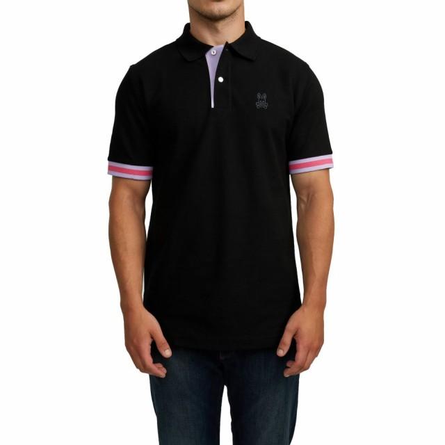 絶妙なデザイン サイコバニー PSYCHO BUNNY メンズ ポロシャツ トップス Savoy Tipped Pique Polo Black, ガーデンショップはなぶん 4a0f7c0e
