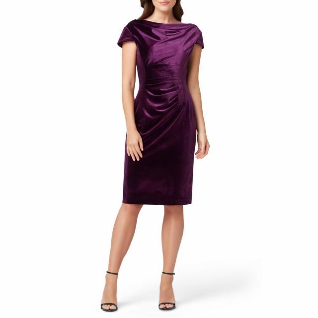 【期間限定送料無料】 タハリ TAHARI タハリ Cowl レディース ワンピース ワンピース・ドレス Cowl Neck Velvet Dress Sheath Dress French Plum, ササクラスポーツ:5c8c6736 --- paderborner-film-club.de