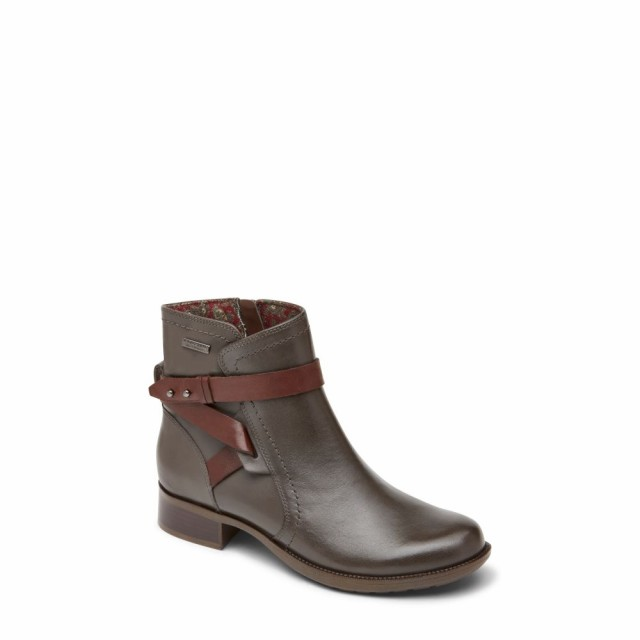 2018新発 ロックポート ROCKPORT COBB ROCKPORT HILL Copley レディース ブーツ シューズ・靴 Copley Waterproof Strap Waterproof Bootie Grey, 白石区:38a43971 --- 1gc.de