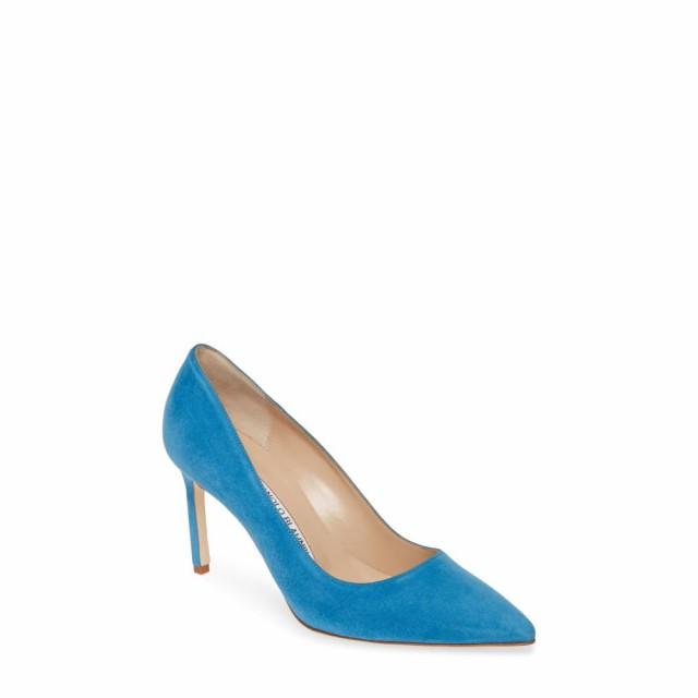 選ぶなら toe Suede pointy Blue BLAHNIK MANOLO シューズ・靴 bb レディース pump マノロブラニク パンプス-靴・シューズ