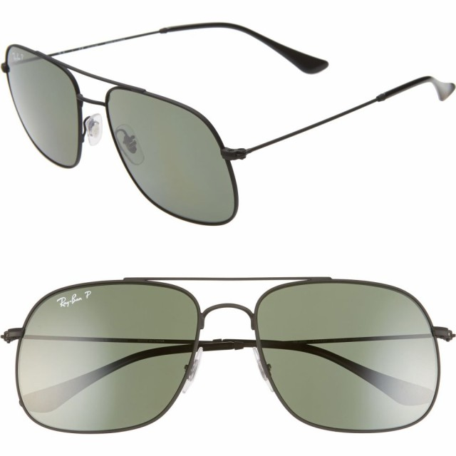 最新のデザイン レイバン RAY-BAN メンズ メガネ・サングラス 59mm Sunglasses Polarized Navigator 59mm レイバン Sunglasses Rubber Black, お宝館TOYZ:03a53891 --- zafh-spantec.de