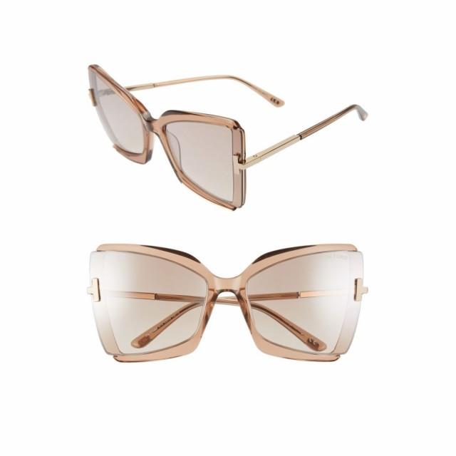 日本製 トム Butterfly Rose フォード Gia TOM FORD レディース メガネ・サングラス Gia 63mm Oversize Butterfly Sunglasses Rose Champagne/Brown, スポーツマリオ:45d3d4f9 --- eu-az124.de