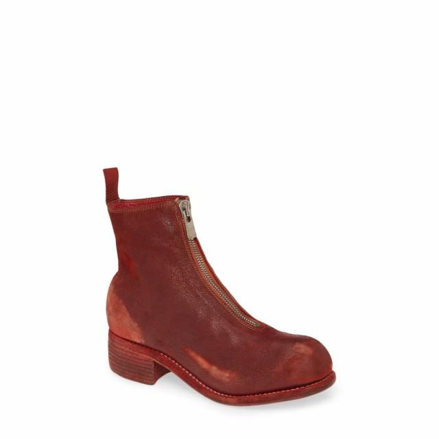 雑誌で紹介された グイディ GUIDI レディース ブーツ シューズ・靴 Front Zip Boot Red, 名入れストラップの木札屋 d09d44e9