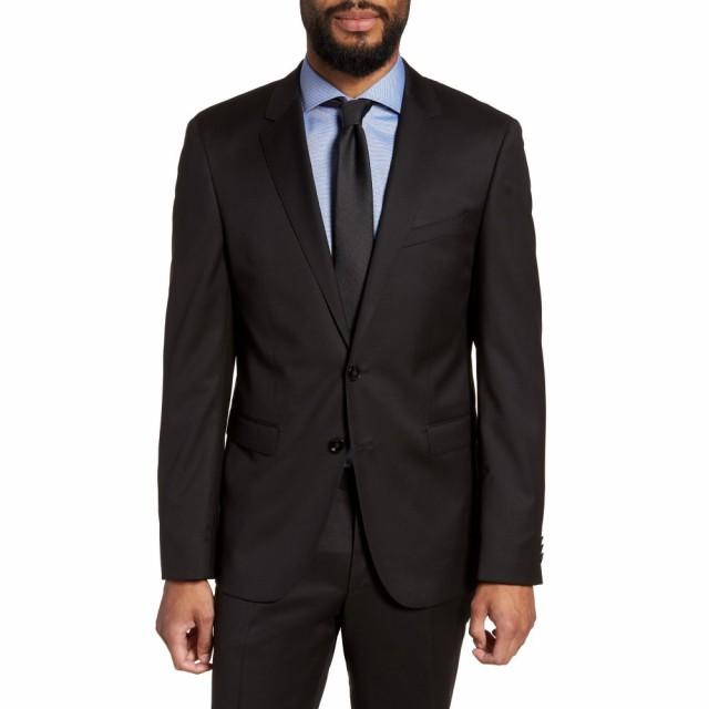 【高価値】 ヒューゴ ボス BOSS メンズ スーツ・ジャケット アウター Ryan CYL Extra Slim Fit Solid Wool Blazer Black, カガワグン f045d4c8