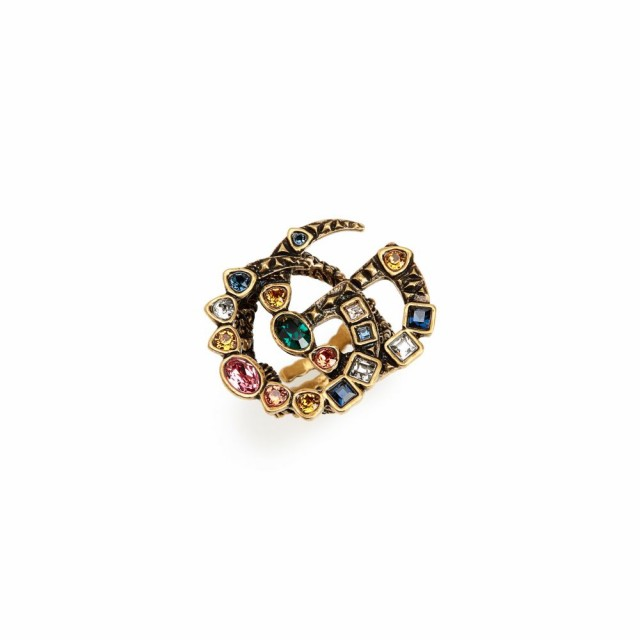 売り切れ必至! グッチ GUCCI グッチ レディース 指輪 Crystal・リング ジュエリー・アクセサリー Fashion Colored Show Double G Colored Crystal Ring Gold/Multi, GOTHIC TOKYO:104d8fe6 --- chevron9.de