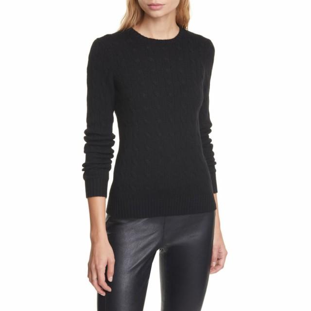 【第1位獲得!】 ラルフ ローレン トップス POLO RALPH LAUREN レディース ニット ニット・セーター・セーター トップス ローレン Cable Cashmere Sweater Polo Black, 最新の激安:45e80029 --- ai-dueren.de