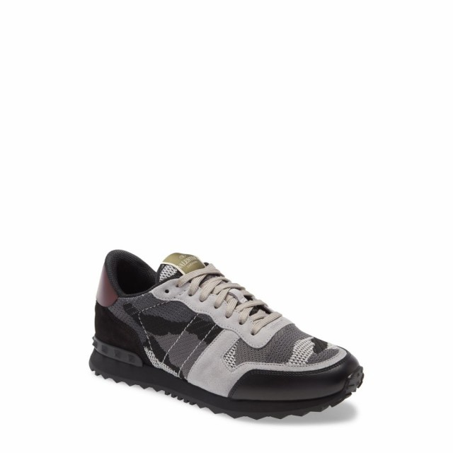 安価 ヴァレンティノ VALENTINO GARAVANI メンズ スニーカー シューズ・靴 Nylon Rockrunner Sneaker Grey /Black, サキトチョウ fc2fb1d9