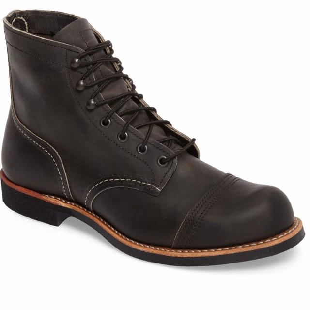正規品販売! Toe Ranger Boot Leather シューズ・靴 Cap メンズ Charcoal Iron WING ブーツ RED レッドウィング-靴・シューズ