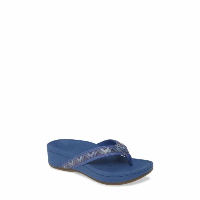 2019年激安 VIONIC シューズ・靴 ウェッジソール Tide Wedge バイオニック High Flop Flip Fabric レディース ビーチサンダル Navy-靴・シューズ