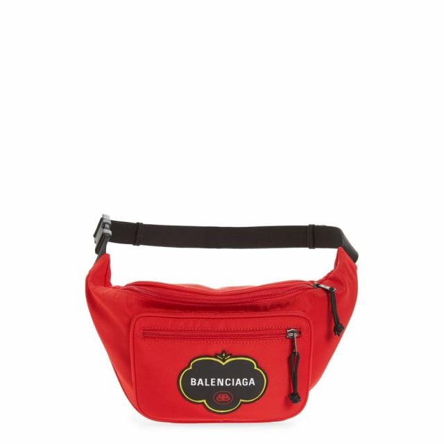 2019激安通販 バレンシアガ BALENCIAGA メンズ ボディバッグ・ウエストポーチ バッグ Explorer Canvas Belt Bag Bright Red, カジキチョウ e50903ad
