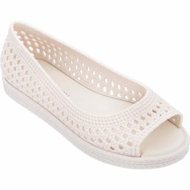 【新作からSALEアイテム等お得な商品満載】 メリッサ MELISSA レディース スリッポン・フラット オープントゥ シューズ・靴 x Jason Wu Camilla Woven Open Toe Flat White, ラベンダーハウス ed4d2cbc