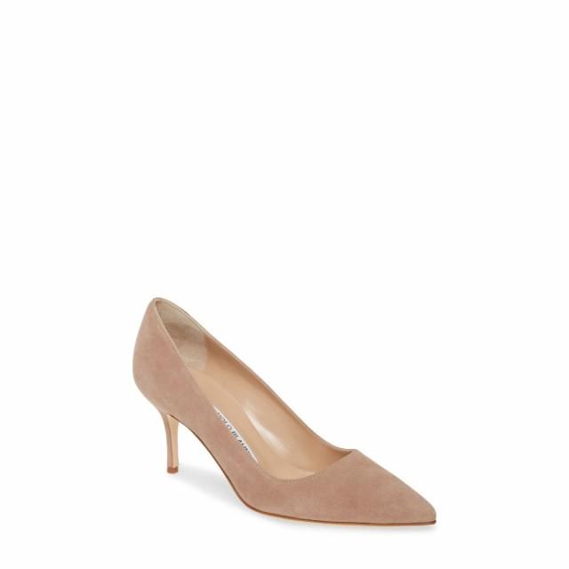 高価値 レディース BLAHNIK Taupe MANOLO シューズ・靴 パンプス pump マノロブラニク Suede bb-靴・シューズ