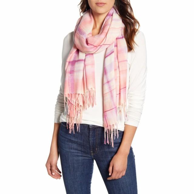【送料無料】 ノードストローム NORDSTROM レディース Scarf マフラー・スカーフ NORDSTROM Tissue・ストール Tissue Print Wool and Cashmere Wrap Scarf Pink Gossamer Plaid, きものSHOP えりしょう:8a5cf53b --- kzdic.de