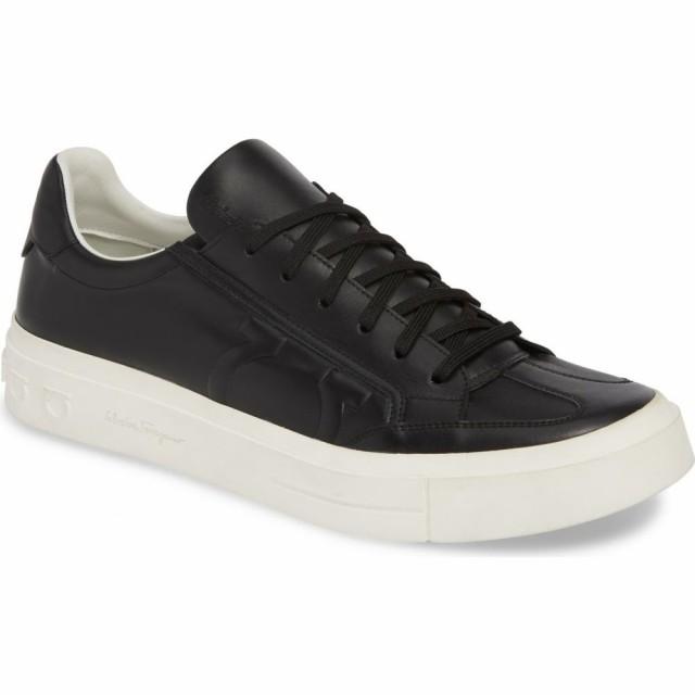品質のいい サルヴァトーレ フェラガモ SALVATORE FERRAGAMO メンズ スニーカー シューズ・靴 Borg Sneaker Black/White, イツキムラ c2ed7bd7
