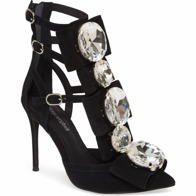 お待たせ! ジェフリー パンプス キャンベル JEFFREY CAMPBELL レディース パンプス Pump Strappy シューズ・靴 Beauty Bow and Crystal Strappy Pump Black Suede, 満天社:f7b03264 --- stunset.de