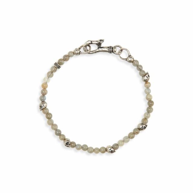 新入荷 ジョン バルベイトス JOHN Bracelet VARVATOS JOHN メンズ バルベイトス ブレスレット ジュエリー・アクセサリー Skull Bead Bracelet Grey, 貴女だけのフォーマルSunLook:f1804649 --- dorote.de