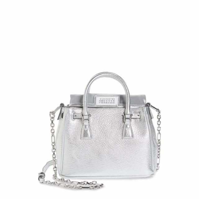 優れた品質 メゾン マルジェラ マルジェラ MAISON Leather MARGIELA レディース ショルダーバッグ Bag バッグ Mini 5AC Flap Metallic Leather Shoulder Bag Silver, ブランドショップ よちか:b59c55b4 --- 1gc.de