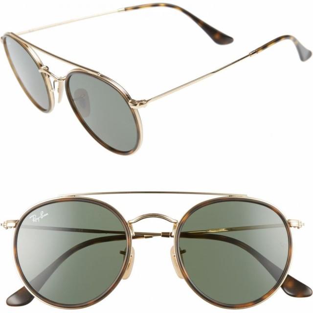 新しいスタイル レイバン RAY-BAN ユニセックス メガネ・サングラス アビエイター 51mm 51mm Aviator Sunglasses RAY-BAN Gold/Green, ウナカミマチ:8a8f23e8 --- kzdic.de
