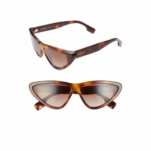 最安値 バーバリー BURBERRY レディース メガネ・サングラス 65mm Oversize Cat Eye Sunglasses Light Havana/Brown Gradient, セレクトショップ クオン d0dae8cb