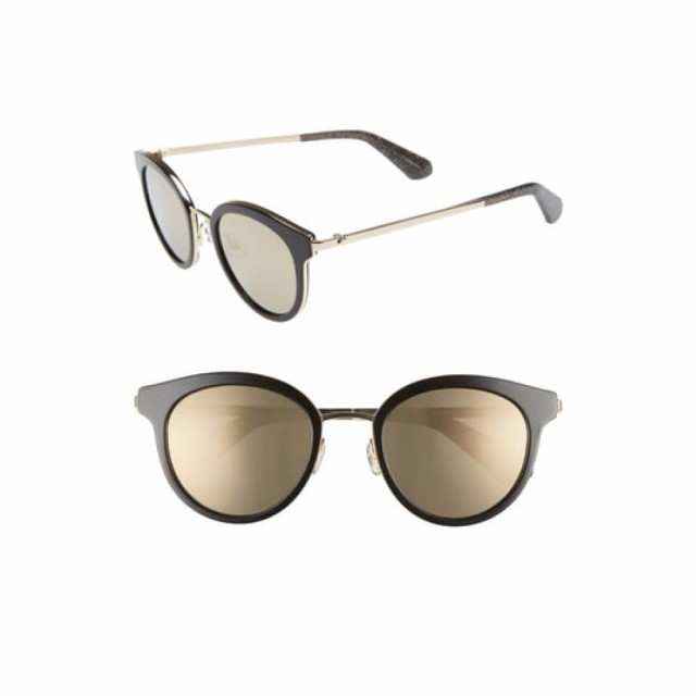 【スーパーセール】 ケイト スペード KATE SPADE NEW YORK レディース メガネ KATE・サングラス レディース NEW lisanne 50mm special fit round sunglasses Black, 庄内町:82bee2ab --- zafh-spantec.de