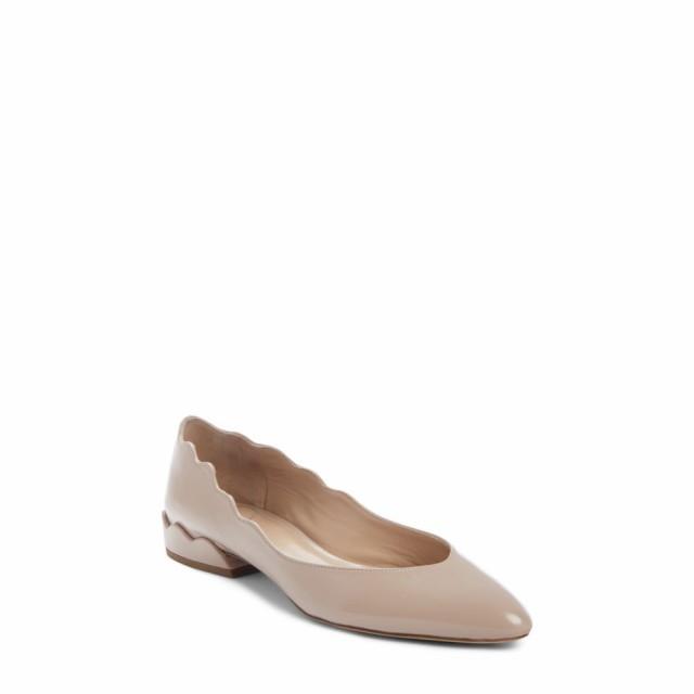 リアル レディース Flat シューズ・靴 クロエ Tea CHLOE Laurena Scalloped Pink スリッポン・フラット-靴・シューズ