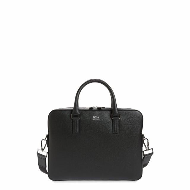 男女兼用 ヒューゴ メンズ ボス Slim BOSS メンズ ビジネスバッグ・ブリーフケース バッグ バッグ Signature Slim Leather Briefcase Black, バオバブツリー:a28a008a --- 1gc.de