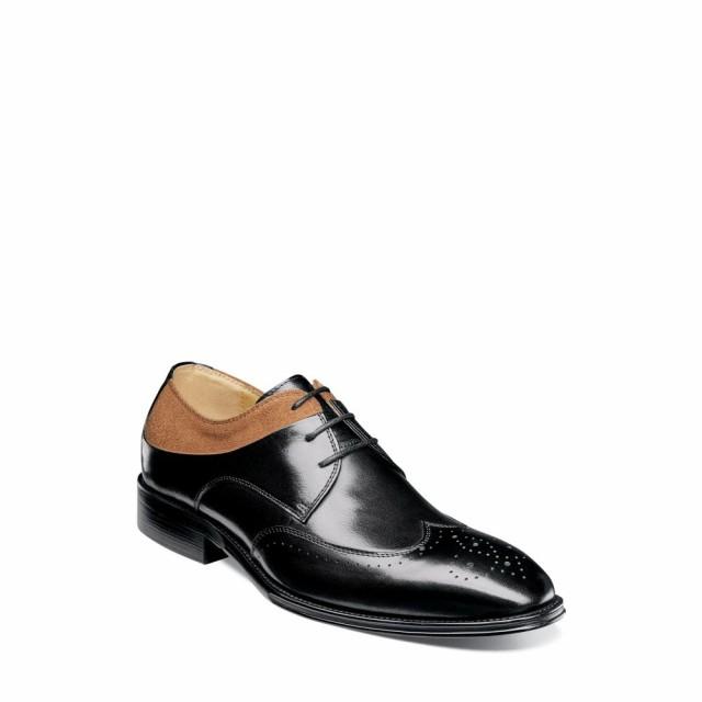 2019最新のスタイル ステイシー アダムス STACY ADAMS メンズ 革靴・ビジネスシューズ ウイングチップ シューズ・靴 Hewlett Wingtip Black And Tan, あっとらいふ f5074675