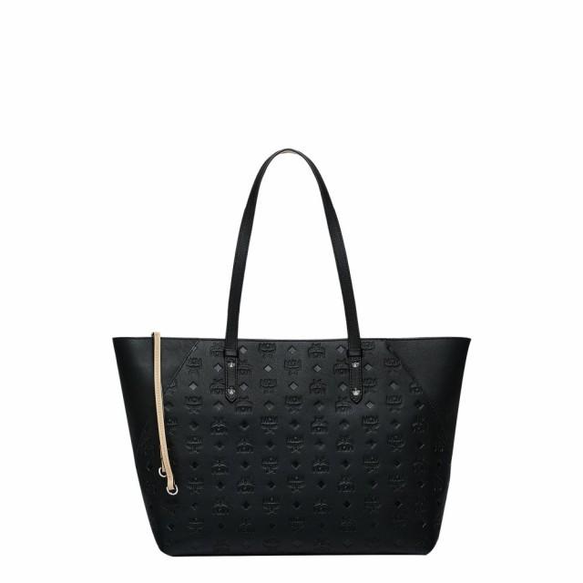 【海外輸入】 エムシーエム MCM レディース トートバッグ バッグ レディース Medium Leather バッグ Klara Monogram Leather Shopper Black, フォアザアース:52e8f9fe --- chevron9.de