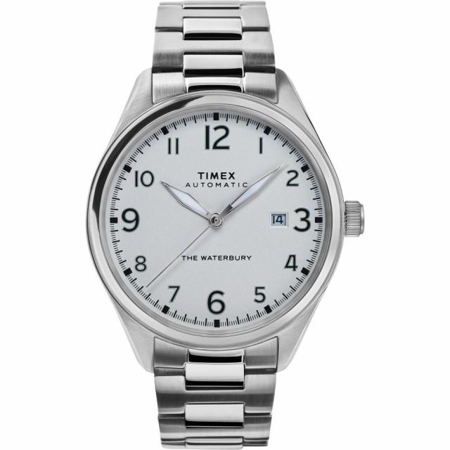 魅力的な タイメックス TIMEX ユニセックス 腕時計 Waterbury Automatic Bracelet Watch. 42mm Silver/White/Silver, 筑後市 53d4a55b