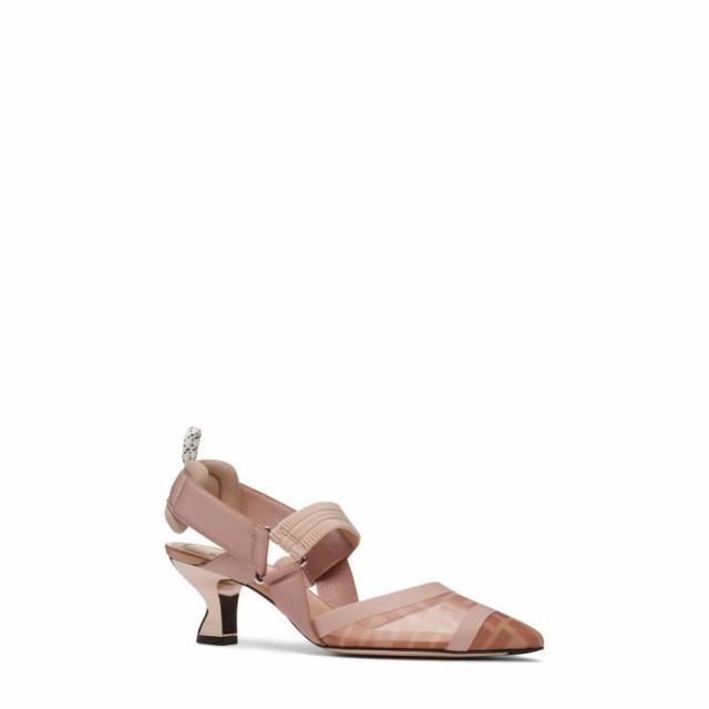高品質の人気 Rose/Nude シューズ・靴 Colibri パンプス Slingback Mesh FENDI Pump フェンディ レディース-靴・シューズ